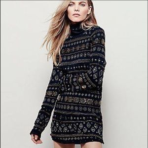 ✨Free People Sea Of Stars Beaded Tunic Dress🌊